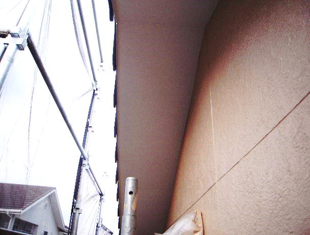 南面上塗り4回目塗装