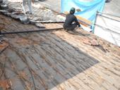 瓦改修工事、施工例