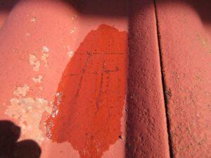 スポットテストで塗膜剥離の有無を確認