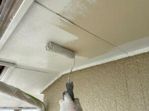 1階軒裏下塗り